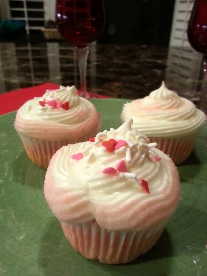 Pink Lemonade Cupcakes for Valentine's Day!