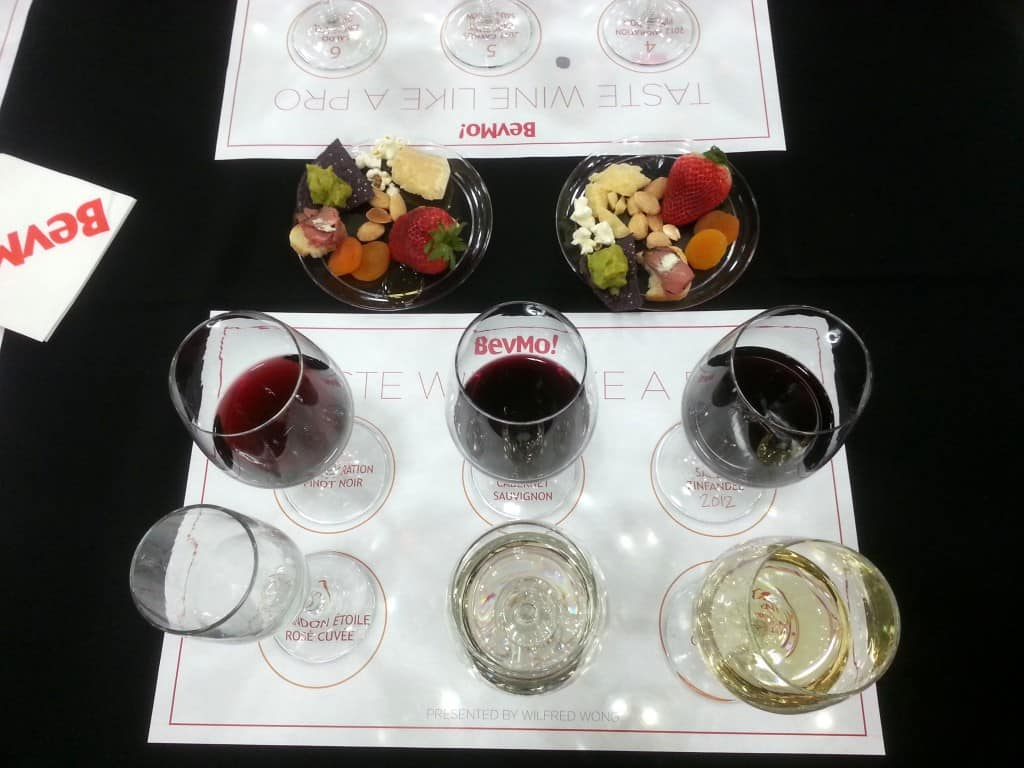 Our wines were set up on labeled placemats, which made for great photo ...