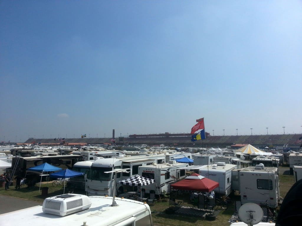 view from the rv nascar speedway