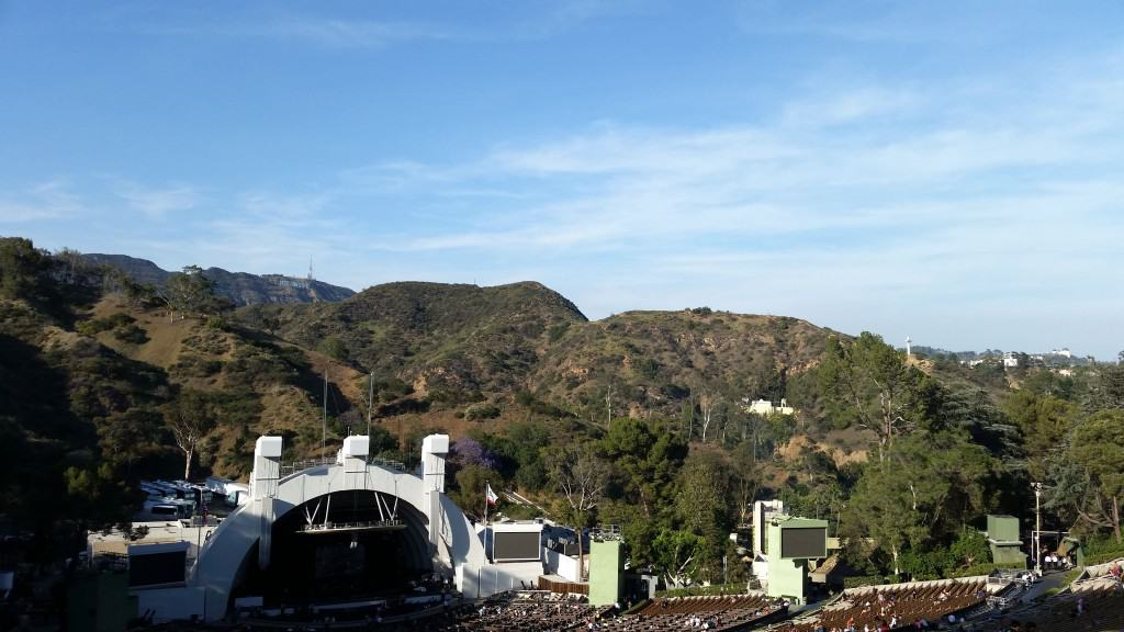view from our seats at the hollywood bowl