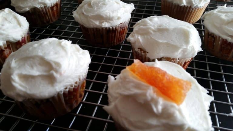Grapefruit Cupcakes with Citron Buttercream Frosting