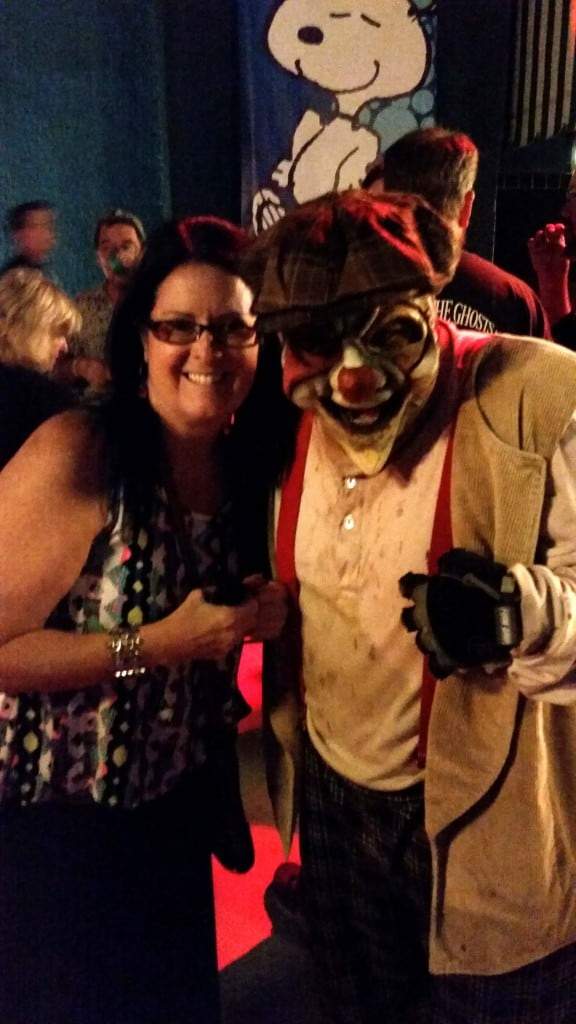 me and a knott's scary farm monster