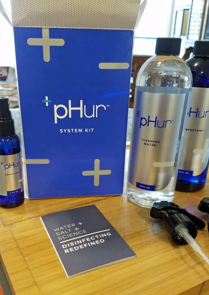live naturally with pHur Cleaning Water