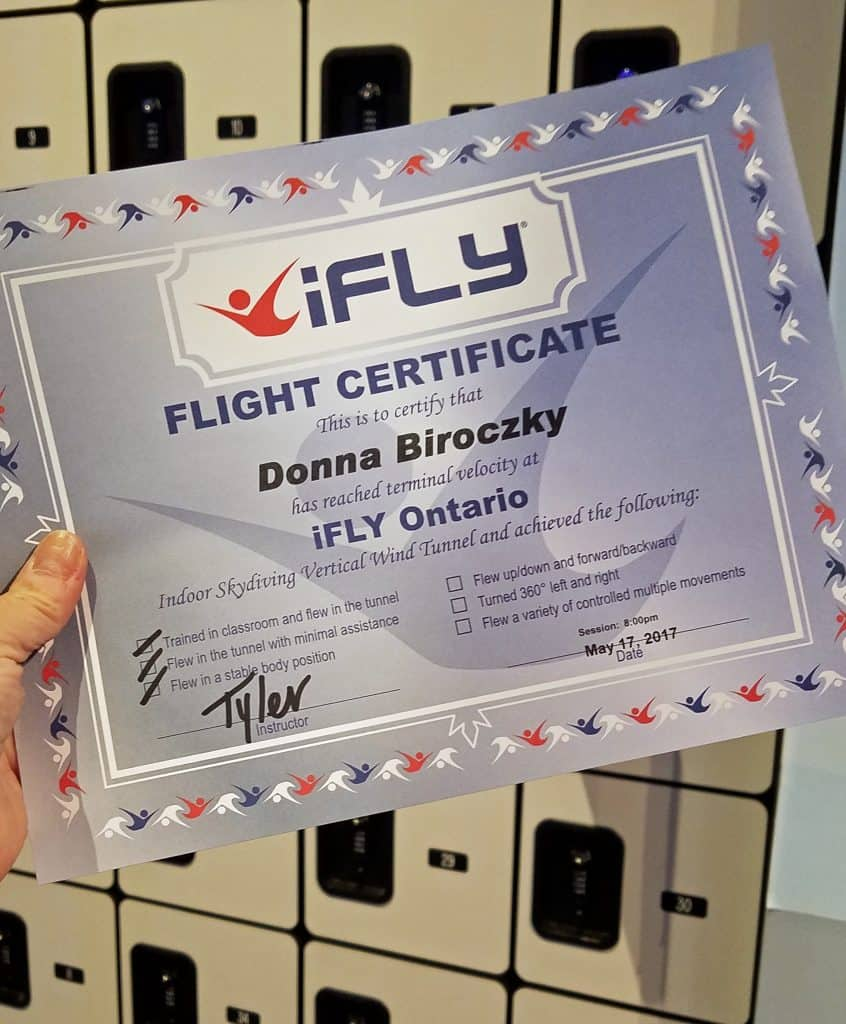 flying with iFly Ontario