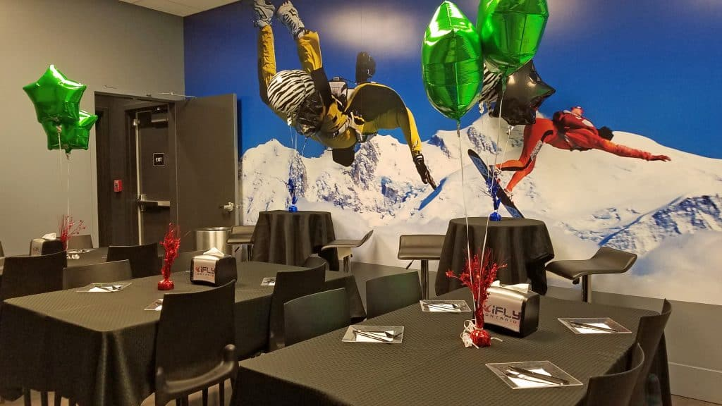 iFly party room