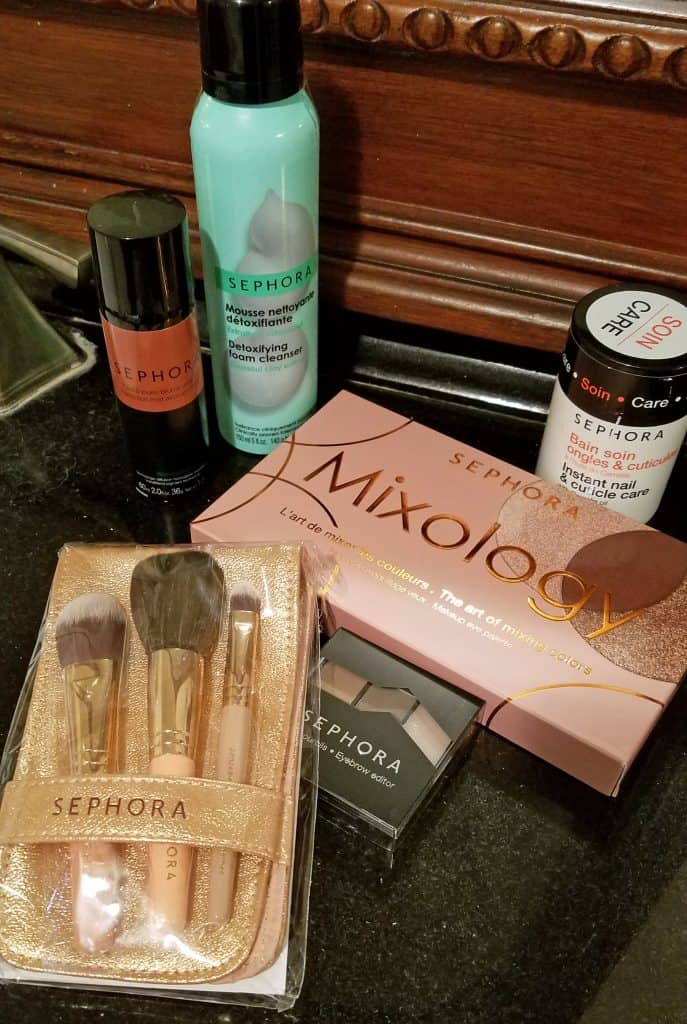getting glam with Sephora products