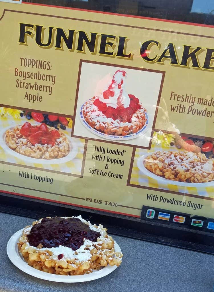 boysenberry funnel cake