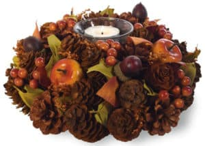 Fall candle wreather holder