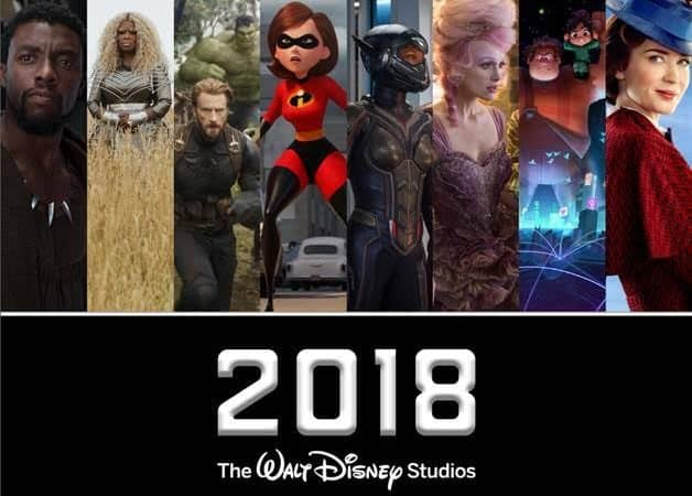 2018 Disney movie slate
