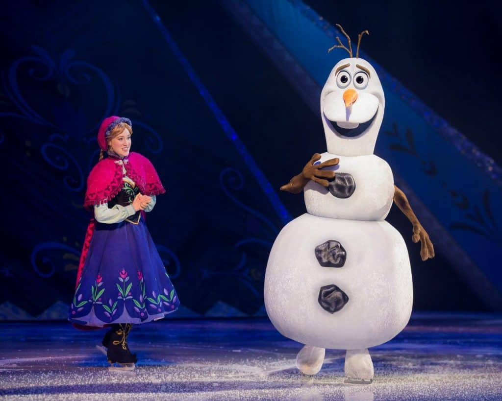 Anna and Olaf from Frozen