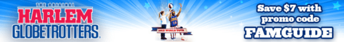 Save $7 Off of the Iconic Harlem Globetrotters 2015 Tour!