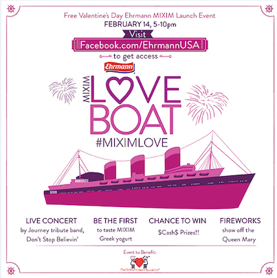 Visit the MIXIM Love Boat on Valentine's Day!