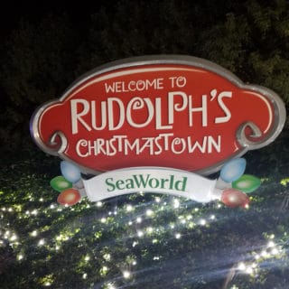Celebrating Christmas at Sea World in Rudolph's Christmastown