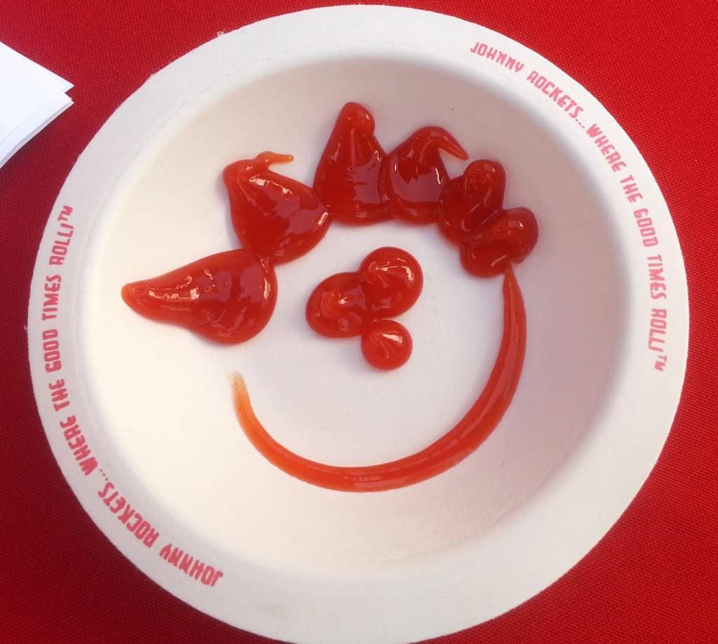 Johnny Rockets ketchup art