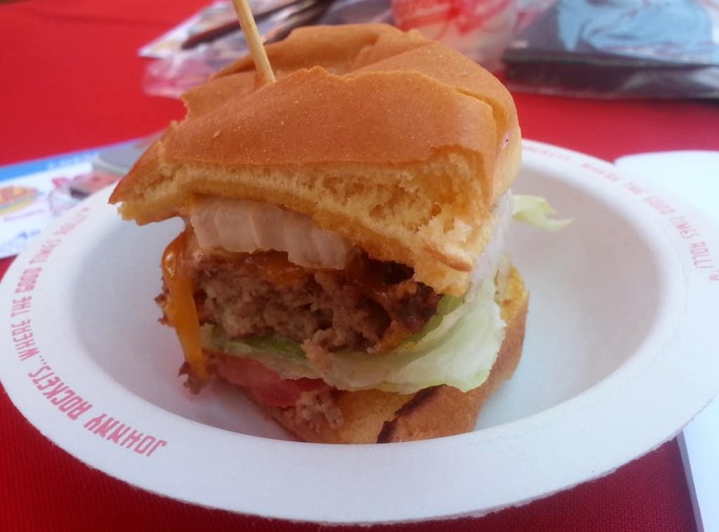 Johnny Rockets burger