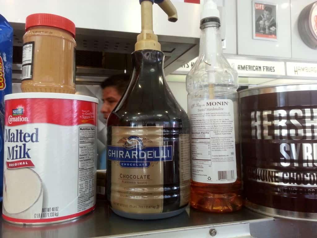 Johnny Rockets shake ingredients