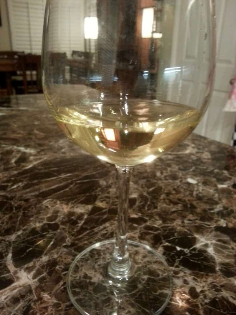 holman ranch wine tasting chardonnay in glass