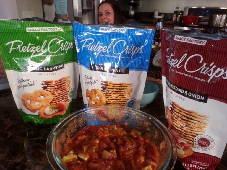 Pretzel Crisps and Dip, or as We Called It, the Pretzelbowl!