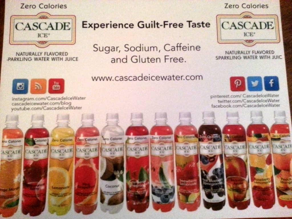 cascade ice water chart