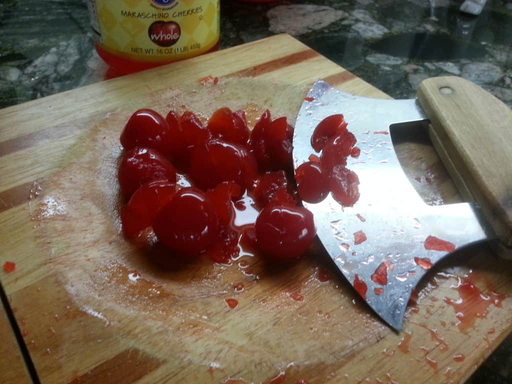 chopped cherries for cherry cola cupcakes