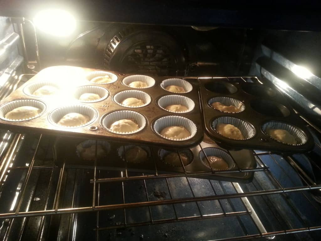 cupcake batter in trays