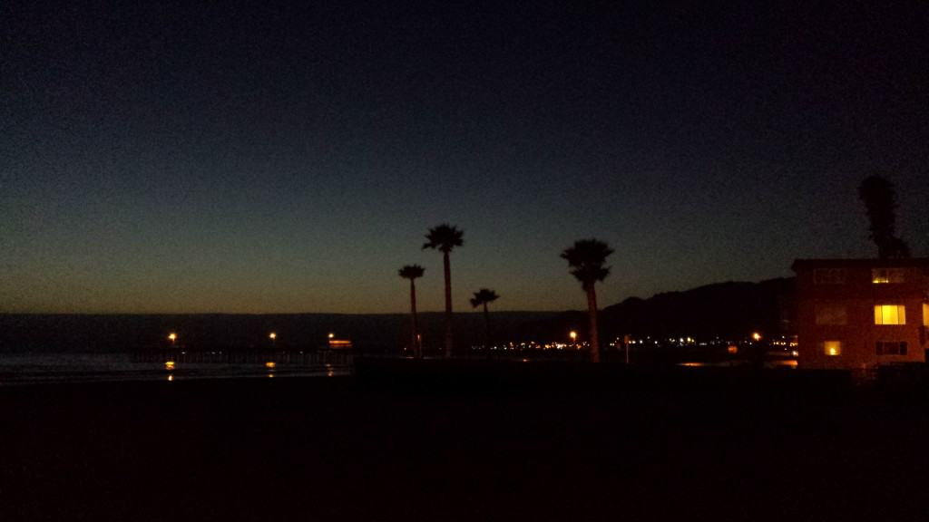 pismo beach at night
