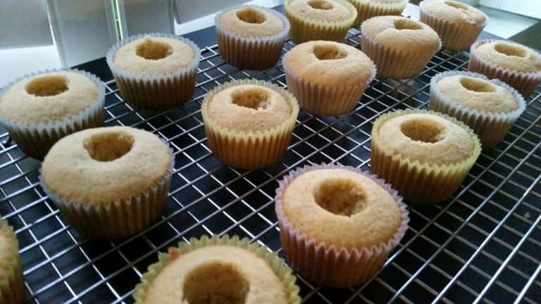 cored cupcakes