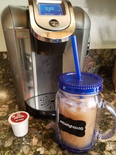 making an iced chai latte with your keurig