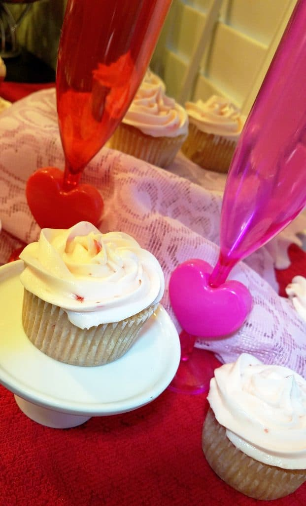 cherry vanilla cupcake recipe for Valentine's Day