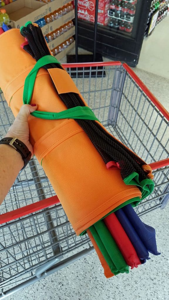 grocery shopping with Trolley Bags
