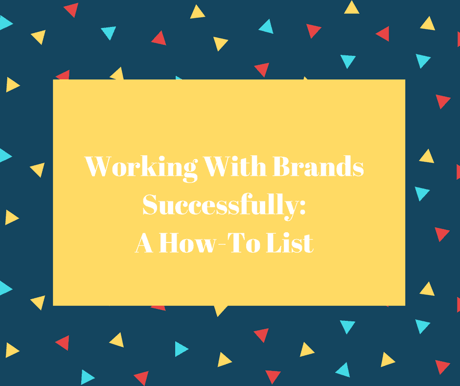 work with brands successfully