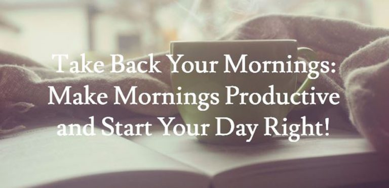 make mornings productive