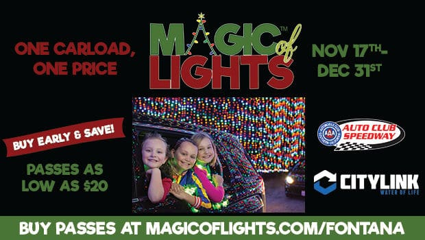 magic of lights at auto club speedway