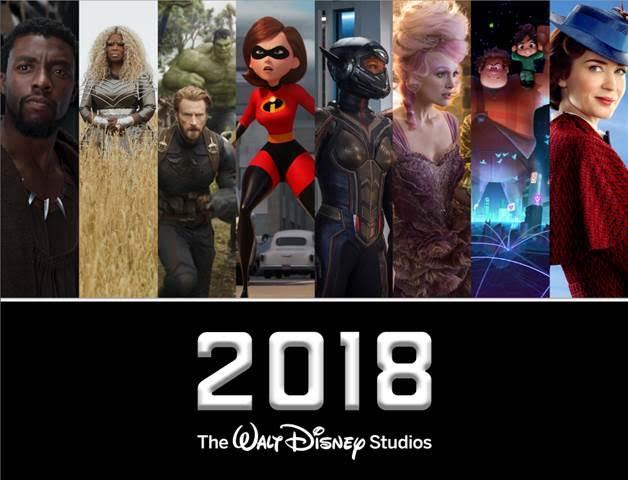 2018 Disney movie slate