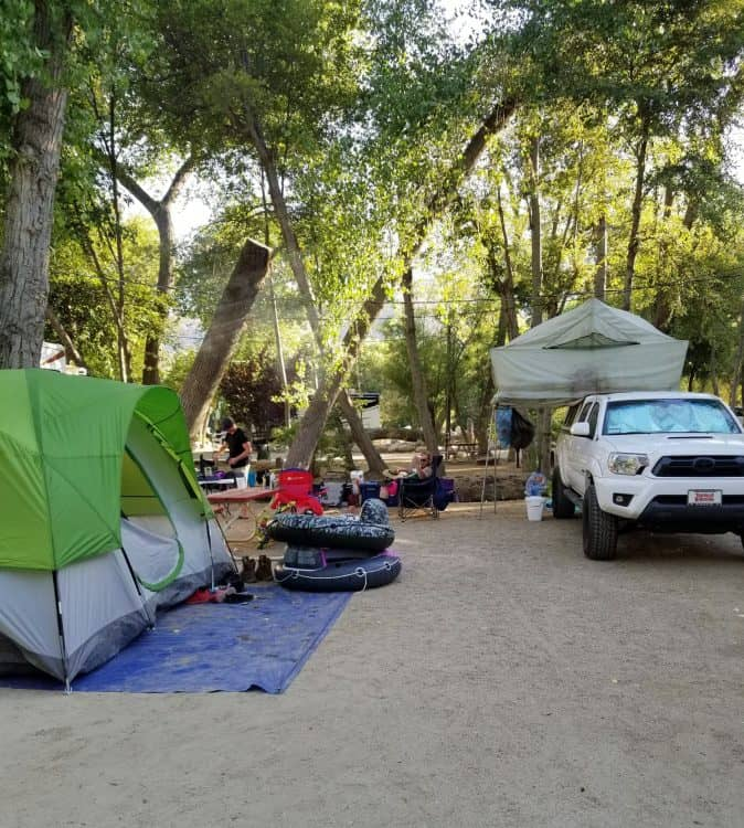 camping at kern river