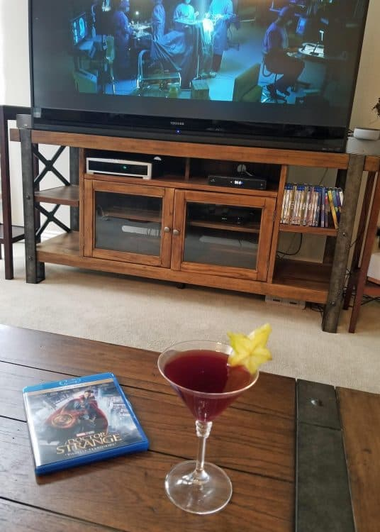 Marvel themed cocktail
