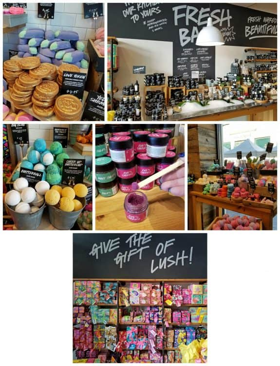 valentine's day gift shopping at Lush in victoria gardens