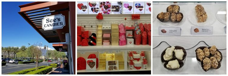 valentine's day gift shopping at Sees's Candies Victoria Gardens