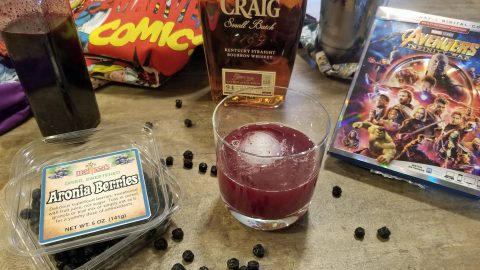 aronia berry bourbon sour cocktail recipe