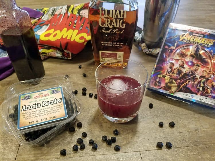 aronia berry bourbon sour cocktail recipe