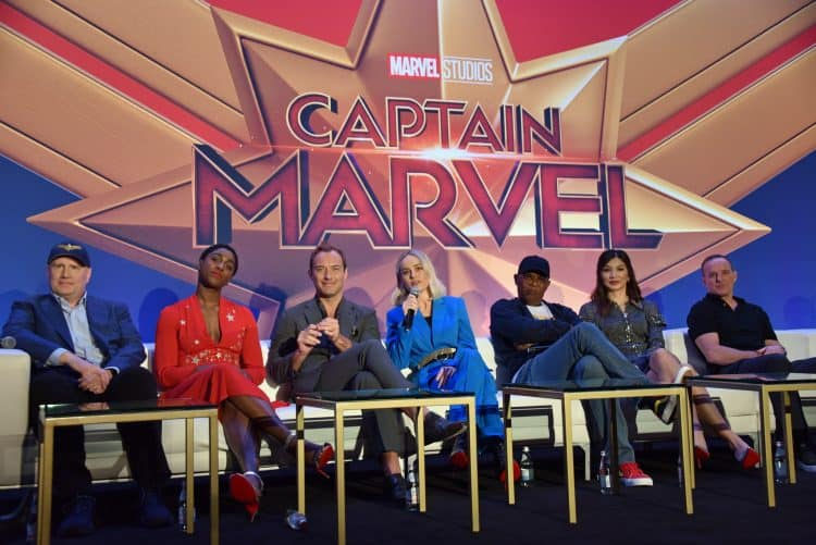 captain marvel cast interview