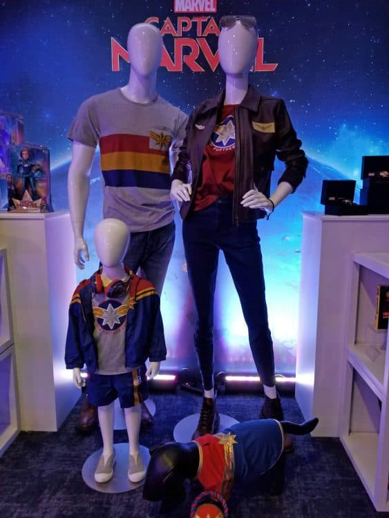 captain marvel gear and clothes