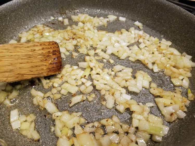 onions for spicy German potato salad