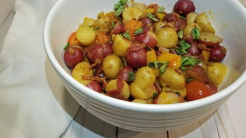 spicy german potato salad featured
