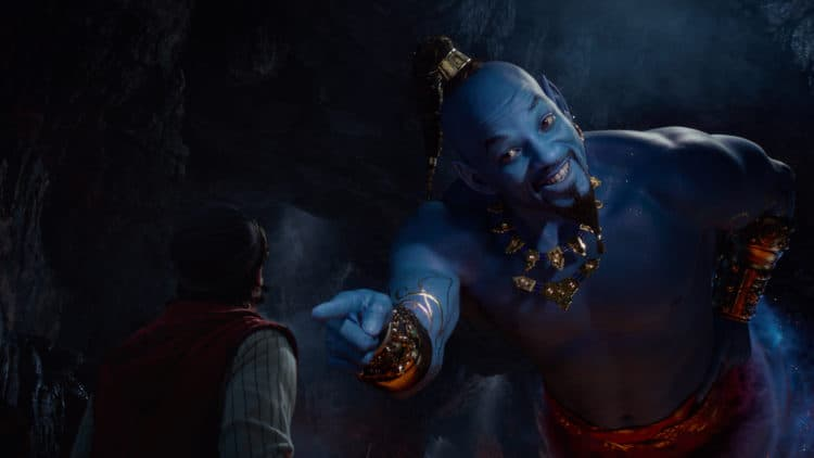 will smith as the genie in aladdin movie