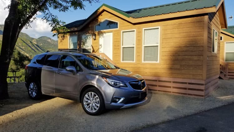 buick envision parked at rancho oso santa barbara rv resort