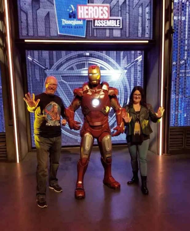 posing with Iron at Disneyland After Dark Heroes Assemble
