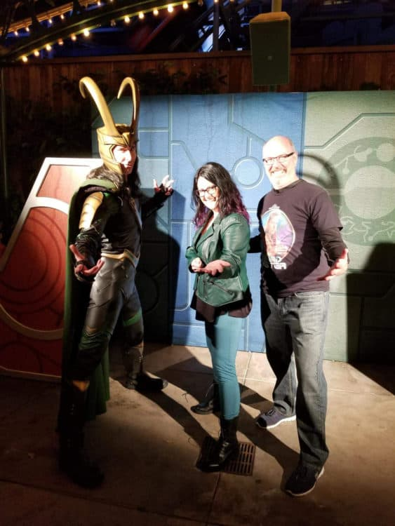 photo with Loki at Disney California Adventure