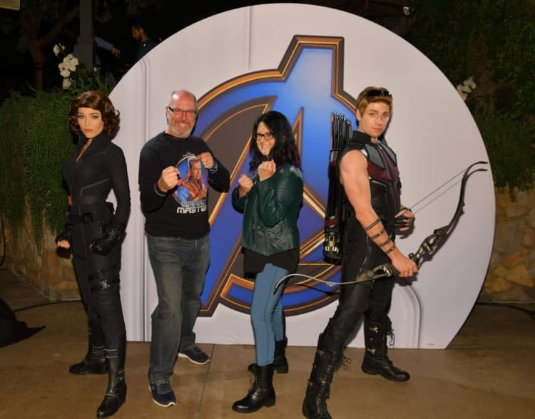Hawkeye and Black Widow at Disneyland After Dark