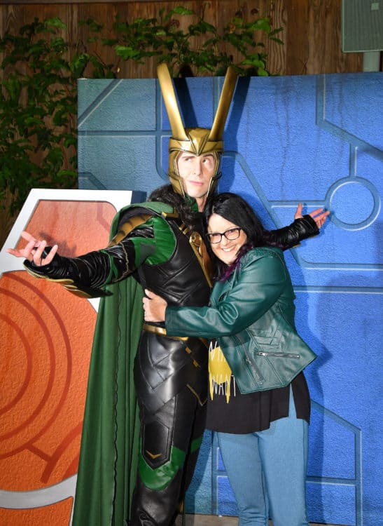 Hugging Loki at Disneyland After Dark